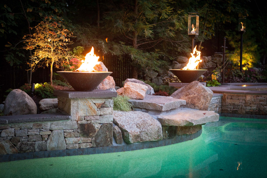 Pools ferrari pools for Pool fire bowls