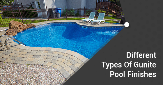 4 types of finishes for your gunite pool ferrari pools for Different types of pools