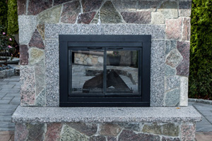 Standing Open Fireplace