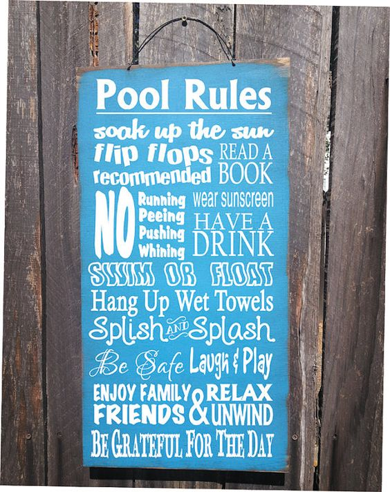 10 Custom Swimming Pool Signs You Should Try | Ferrari Pools